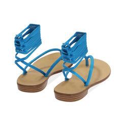 Sandales à lacets en lycra turquoise, Primadonna, 174982380LYTURC035, 004 preview