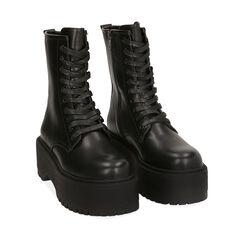 Bottines noir, platform 5,5 cm , Primadonna, 160622251EPNERO036, 002a