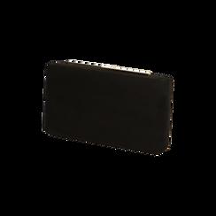 Clutch nera in microfibra, IDEE REGALO, 165109588MFNEROUNI, 002 preview
