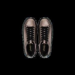Sneakers canna di fucile con suola extra platform zigrinata, Scarpe, 122618776EPCANN, 004 preview