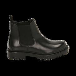 Chelsea boots neri in pelle, Primadonna, 16B811404PENERO038, 001 preview