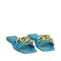 Zapatillas de cuero turquesa, Primadonna, 17L602031PETURC035, 002a