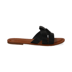 Mules nere in eco-pelle, Primadonna, 133661443EPNERO035, 001 preview