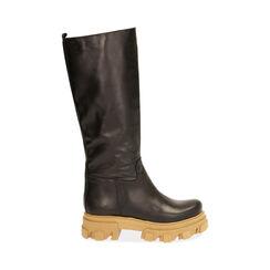 Botas de piel en negro, tacón 4 cm, Primadonna, 17L666810VINERO036, 001 preview