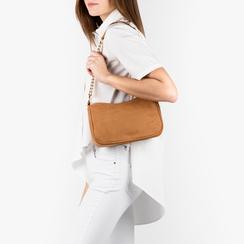 Petit sac porté épaule marron en microfibre, Sacs, 155127201MFMARRUNI, 002a