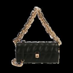 Tracollina nera matelassé, Borse, 165123377EPNEROUNI, 001 preview