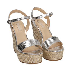 WOMEN SHOES WEDGE EP-CROCO ARGE, Zapatos, 154983292CCARGE036, 002 preview