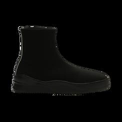 Sneakers nere in lycra a calza con suola in gomma, Scarpe, 121740405LYNERO, 001 preview