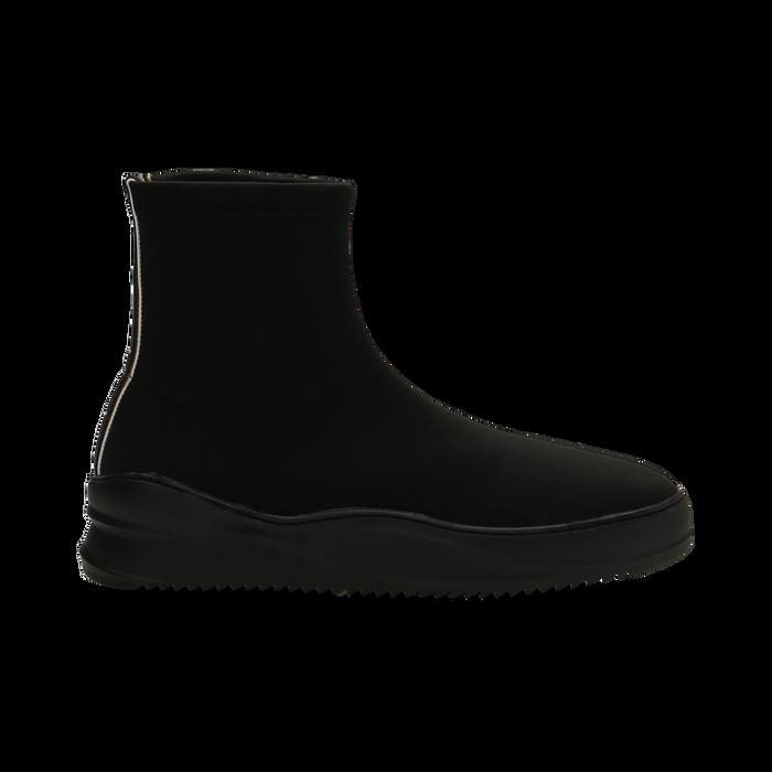 Sneakers nere in lycra a calza con suola in gomma, Scarpe, 121740405LYNERO