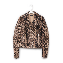 Biker jacket leopard in eco-pelle, Primadonna, 136501161EPLEOPL, 001 preview