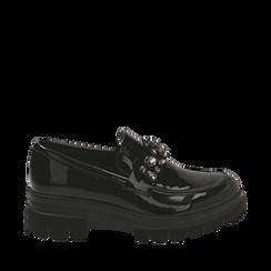 Mocasines de charol negro, Primadonna, 160685982VENERO035, 001a