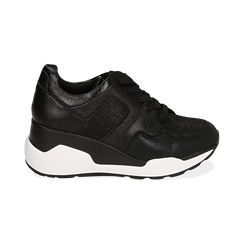 Sneakers nere, zeppa 7 cm , Primadonna, 162800947EPNERO036, 001 preview