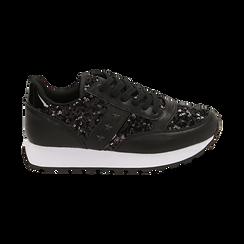 Sneakers nere con paillettes, Primadonna, 162619079PLNERO035, 001 preview