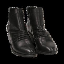 Bottines noires en simili-cuir, talon de 4,50 cm, Primadonna, 150693110EPNERO035, 002 preview