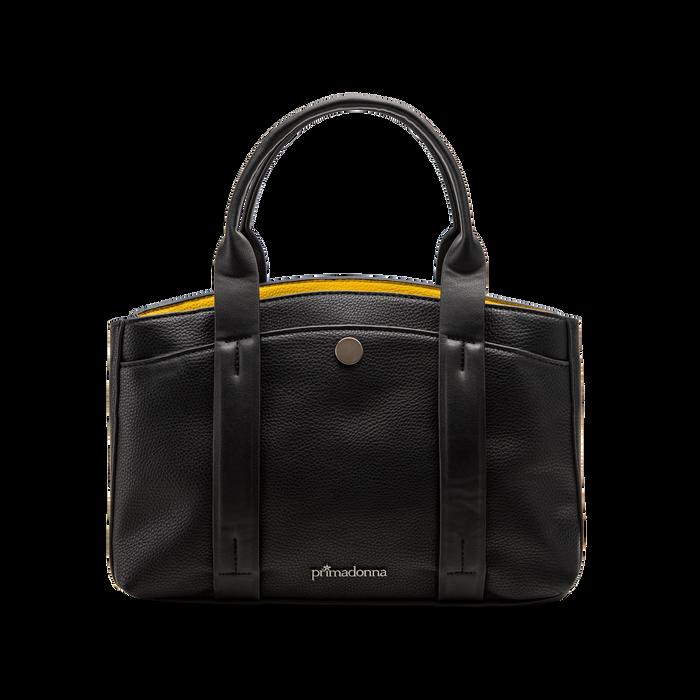 Mini bag nero-gialla in ecopelle, Saldi Borse, 122323219EPNEGIUNI