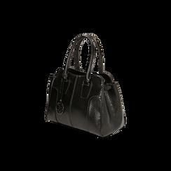 Sac à main noir imprimé vipère, Primadonna, 165702675EVNEROUNI, 002 preview