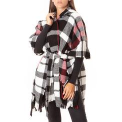 Poncho tartan noir/rouge, Primadonna, 18B400601TSNERSUNI, 001a