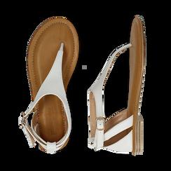 Sandali infradito bianchi in eco-pelle, Primadonna, 134958215EPBIAN035, 003 preview