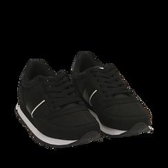 Sneakers noires en tissu technique, Primadonna, 162619079TSNERO035, 002a