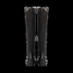 Stivali neri con gambale lungo elasticizzato, tacco basso, Primadonna, 120682917EPNERO, 003 preview