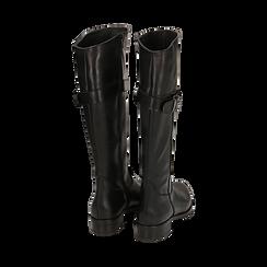 Stivali neri in pelle di vitello , Scarpe, 147200600VINERO036, 003 preview