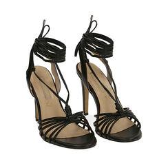 Sandales noires, talon de 10 cm, Primadonna, 172174221EPNERO036, 002a