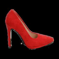 Décolleté rosse in microfibra con plateau, tacco 12 cm , Primadonna, 162106051MFROSS036, 001 preview