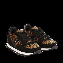 Sneakers leopard marroni in eco-cavallino , Scarpe, 142619079CVMALE036, 002a