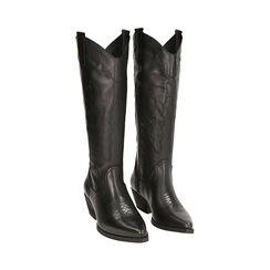 Camperos neri in pelle, tacco 5,5 cm , Primadonna, 17B810805PENERO035, 002 preview