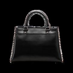 Mini-bag nera in ecopelle, Primadonna, 121818007EPNEROUNI, 002 preview