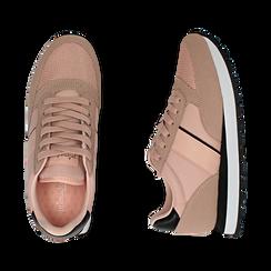 Sneakers nude in tessuto tecnico, Primadonna, 162619079TSNUDE035, 003 preview