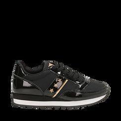 Sneakers nere in vernice, Scarpe, 142619079VENERO036, 001a