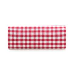 Clutch bianco/rossa in tessuto stampa Vichy, Borse, 133308825TSBIROUNI, 003 preview