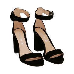 Sandali neri in camoscio, tacco 8,5 cm, Primadonna, 15D600501CMNERO041, 002 preview