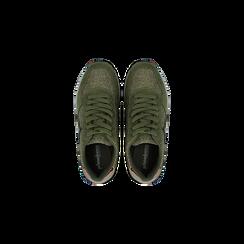 Sneakers verdi dettagli glitter e metallizzati , Primadonna, 121308201LMVERD035, 004 preview