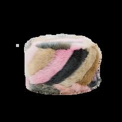 Colbacco multicolore/rosa in eco-pelliccia, Saldi Abbigliamento, 12B413001FUROSA, 001 preview