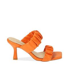 Mules arancio, tacco 8 cm , 172136461EPARAN035, 001a