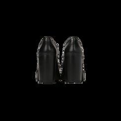 Francesine stringate nere, tacco 9,5 cm, Scarpe, 129320059EPNERO, 003 preview