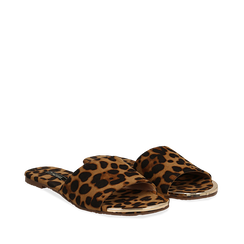 Mules flat leopard in microfibra, Primadonna, 134989113MFLEOP036, 002a