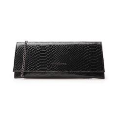 Pochette piatta nera in laminato, Borse, 145122509LMNEROUNI, 001 preview