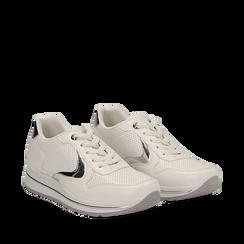 Sneakers bianche in eco-pelle , Scarpe, 139300005EPBIAN035, 002a