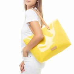 Maxi-bag gialla in pvc,