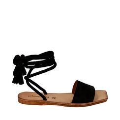 Sandales en daim noires, Primadonna, 17A131486CMNERO035, 001a