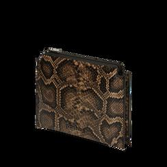 Sachet noir/brun imprimé python, IDEE REGALO, 165122634PTNEMAUNI, 002a