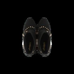 Tronchetti neri maxi-fibbia, tacco 10,5 cm, Scarpe, 122168092MFNERO, 004 preview