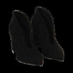 Ankle boots neri in microfibra, tacco 10,50 cm , Primadonna, 162183310MFNERO036, 002 preview