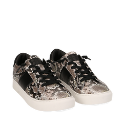Sneakers blanc/noir imprimé python, Primadonna, 162619071PTBINE035, 002a