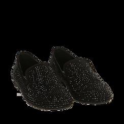 Mocasines en color negro con pedrería, Primadonna, 164982508MPNERO035, 002a