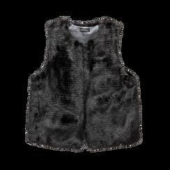 Smanicato eco-fur nero, Saldi, 12B400302FUNERO, 001 preview