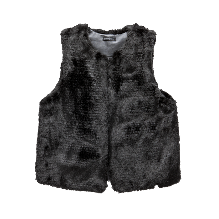 Smanicato eco-fur nero, Saldi, 12B400302FUNERO